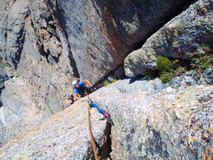 Rock Climbing Photo: High on the East face nearing the summit. Great cl...
