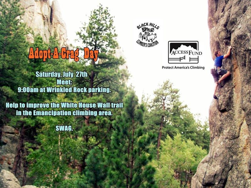 Adopt A Crag Event Saturday July 27th