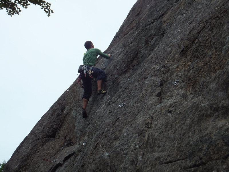 David Larochelle third ascenting Gervèze