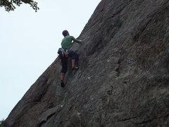 Rock Climbing Photo: David Larochelle third ascenting Gervèze
