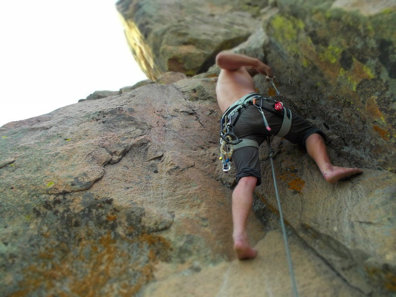 short trad rout in the rosita school out side of westcliffe colorado