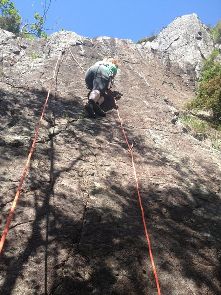 Rock Climbing Photo: Mock leading Ulv.no