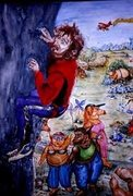 Rock Climbing Photo: A satyrical painting inspired by the name of the r...