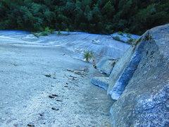 Rock Climbing Photo: Nathan Wiley follows the Split Pillar, the Grand W...