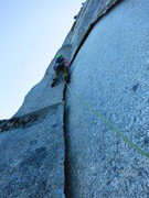 Rock Climbing Photo: Nathan Wiley starts up The Sword pitch, the Grand ...