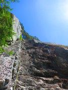 Rock Climbing Photo: Final pitch of Upper Black Dyke
