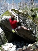 Rock Climbing Photo: Firefly Crack on the Firefly Boulder