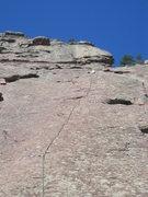 Rock Climbing Photo: Long first run outs on the 1st flatiron