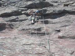 Rock Climbing Photo: 4th pitch anchor