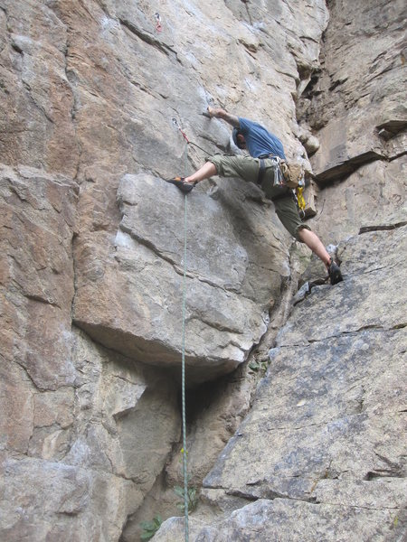 Rock Climbing Photo: Joint Venture in Boulder Canyon
