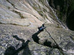 Rock Climbing Photo: Pitch seven (5c+), Zeichen der Freundschaft
