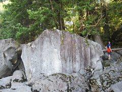 Rock Climbing Photo: 5th boulder at river.
