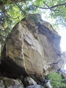 Rock Climbing Photo: All of the above, the 6th boulder at river.