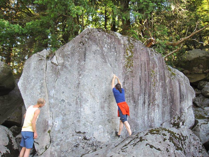 5th boulder at river.