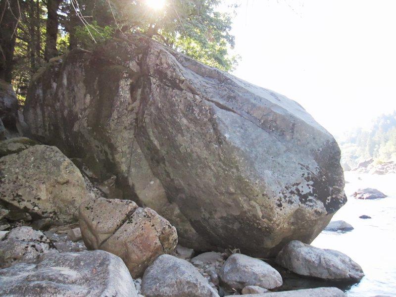 Rock Climbing Photo: 10th boulder at river.