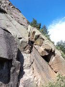 Rock Climbing Photo: The left-facing dihedral.