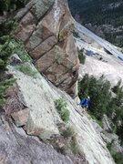 Rock Climbing Photo: George on the cruiser P2 of the climb.