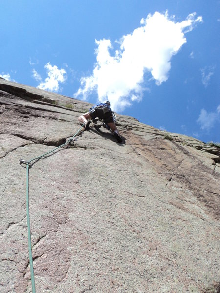 George above the tips crack (crux) of what can be P3.