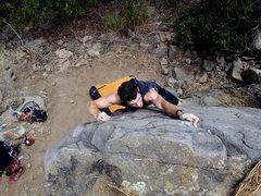 Rock Climbing Photo: Dylan!