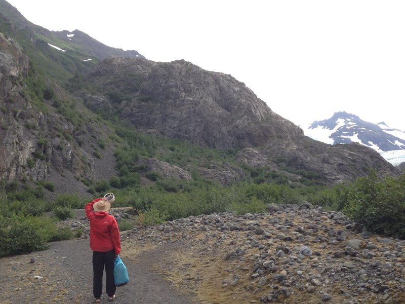 The Woz glacier (far right) and her rocks.