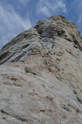 Rock Climbing Photo: View of the second bump/headwall.  Looks harder th...