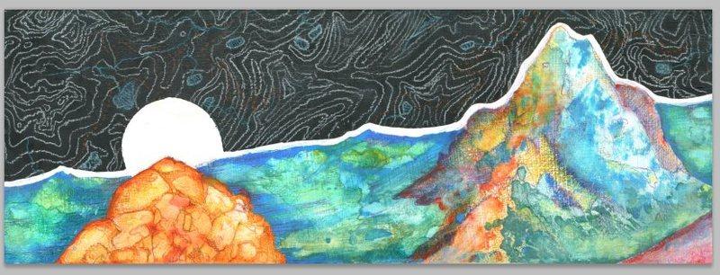Watercolor and color pencil.