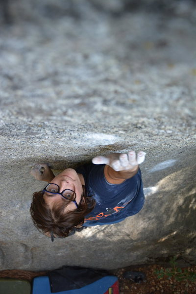 Rock Climbing Photo: Stretching for the high crimp