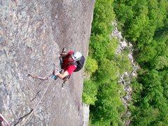 Rock Climbing Photo: Baldy following Sky Streak