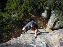 Rock Climbing Photo: Ben Banks (no relation) on Goldak. Ratso at the ba...