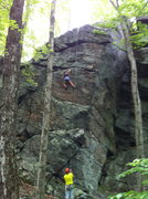 Rock Climbing Photo: genette on the face