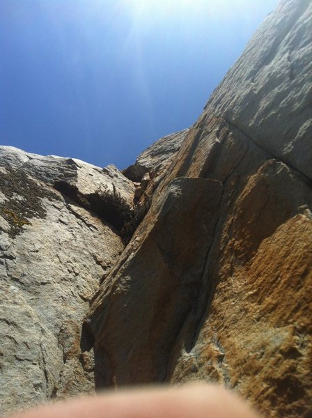 Top crux section