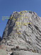 Rock Climbing Photo: Rap stations/descent from the summit of Pingora.  ...