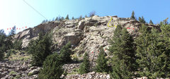 Rock Climbing Photo: Topo with some of the routes.  The yellow dots are...