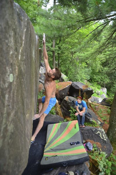 Rock Climbing Photo: Nic on Ballistic