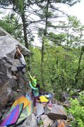 Rock Climbing Photo: Tyler cutting feet on Smooth Operator.