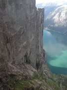 Rock Climbing Photo: Kjerag as seen from Kjeragbolten