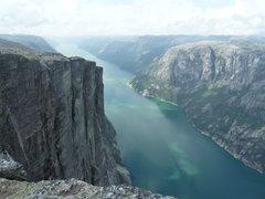 Rock Climbing Photo: Kjerag and Lysefjord