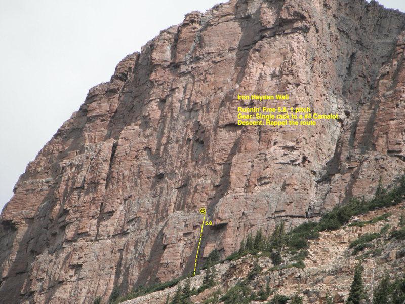 Rock Climbing Photo: Runnin' Free.