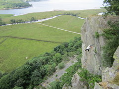 Rock Climbing Photo: 61 years later P. Ross 27th July 2013. Photo Pete ...