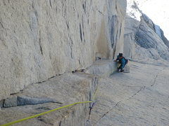 Rock Climbing Photo: Doug Englekirk on P4 of Sunspot Dihedral, photo by...