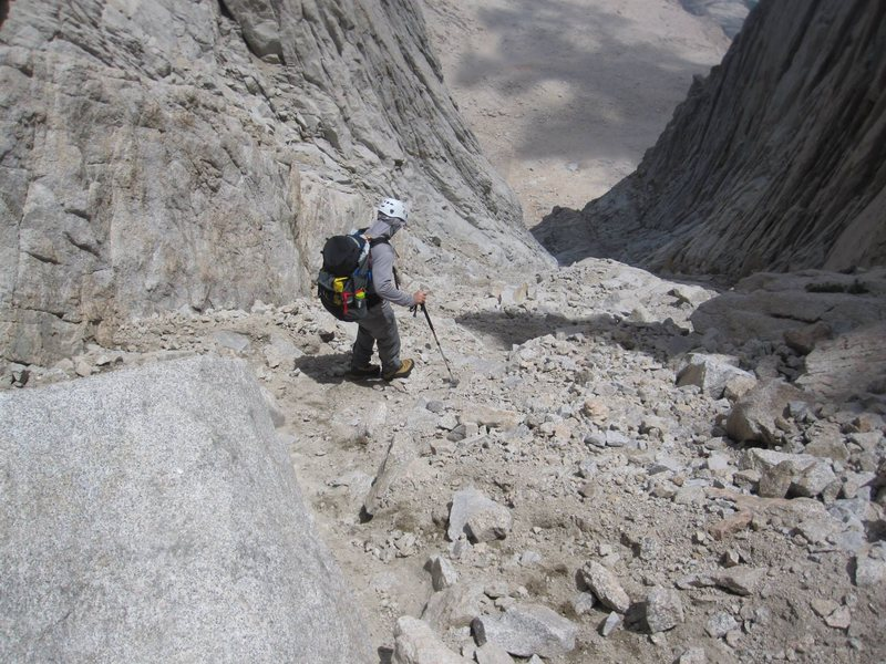 back down the scree and talas - I found sticking to left as long as possible the best