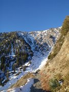 Rock Climbing Photo: NE Face from below, on the hike in. Go left for th...