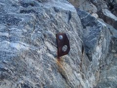 Rock Climbing Photo: Old bolt alongside one of the steps