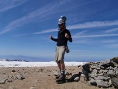 Rock Climbing Photo: At the summit after a harrowing death-trip up the ...