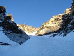 Rock Climbing Photo: In the couloir