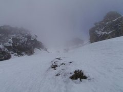 Rock Climbing Photo: Weather rolling in, in the gully.