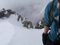 Rock Climbing Photo: Looking back after gaining the ridge