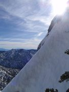Rock Climbing Photo: Steep snow