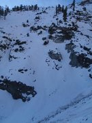 Rock Climbing Photo: Route is on the left side of photo, with start par...