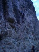 Rock Climbing Photo: Left then Right FA